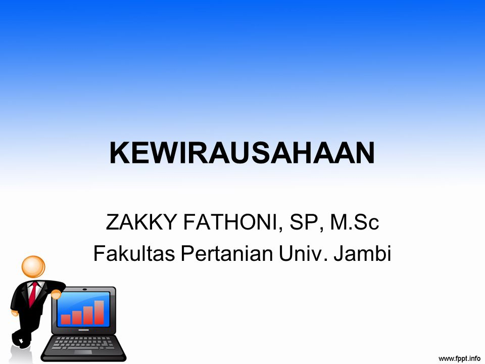 ZAKKY FATHONI, SP, M.Sc Fakultas Pertanian Univ. Jambi