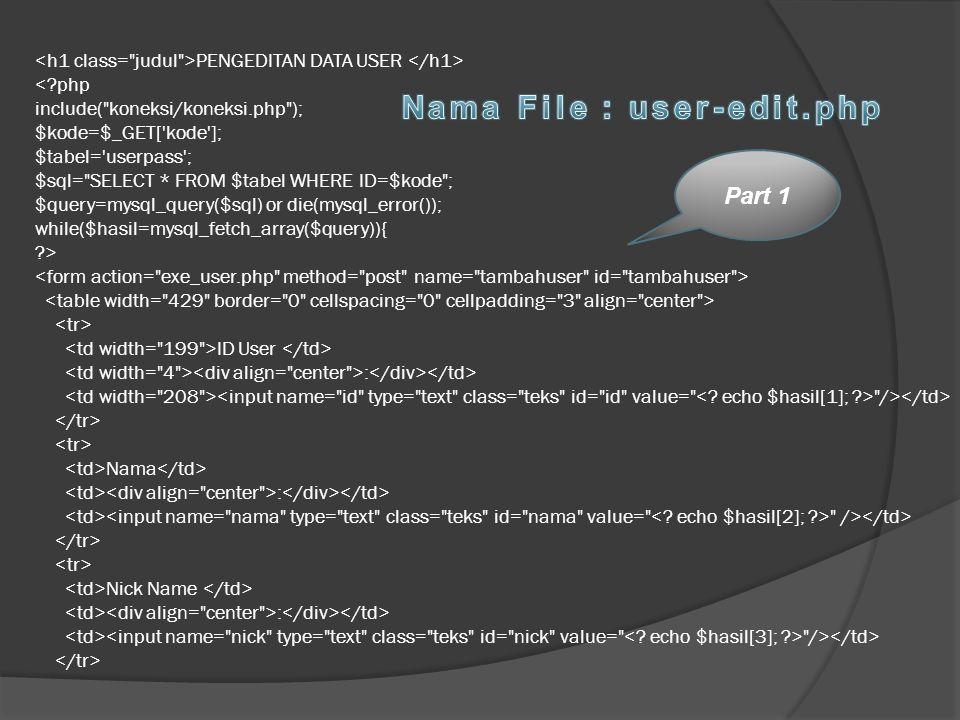 Nama File : user-edit.php