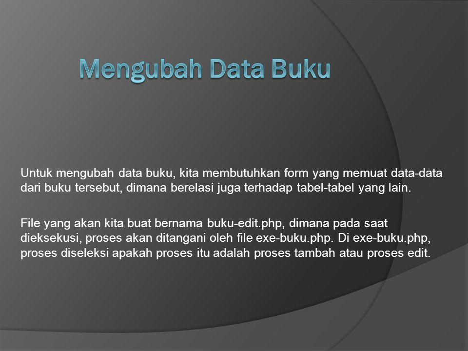 Mengubah Data Buku