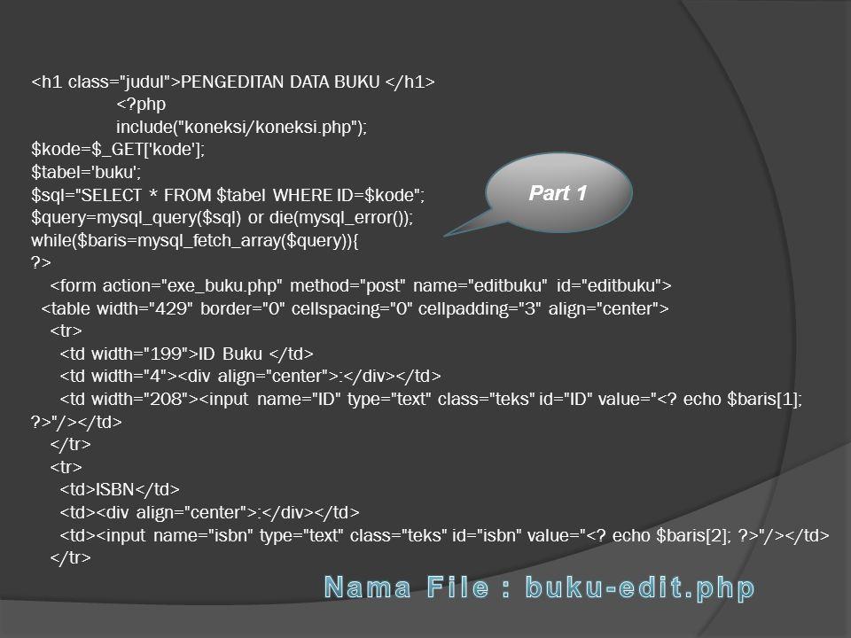 Nama File : buku-edit.php