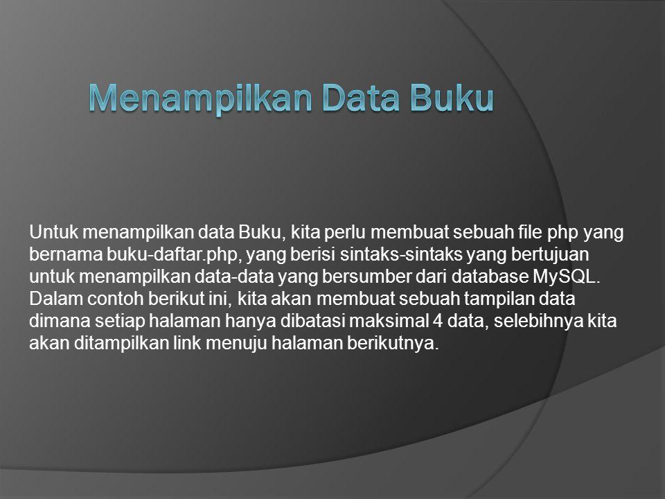 Menampilkan Data Buku