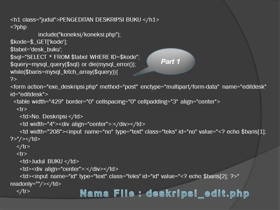 Nama File : deskripsi_edit.php