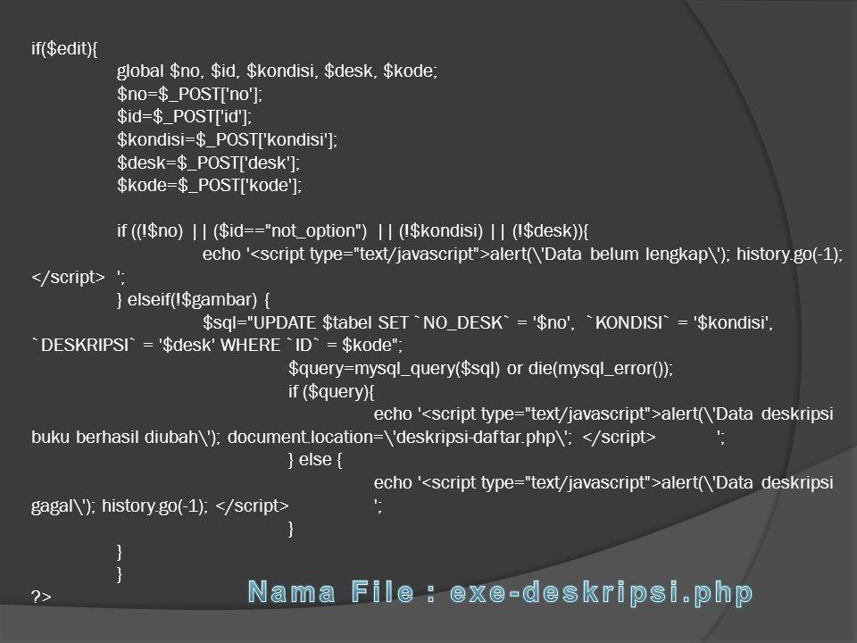 Nama File : exe-deskripsi.php