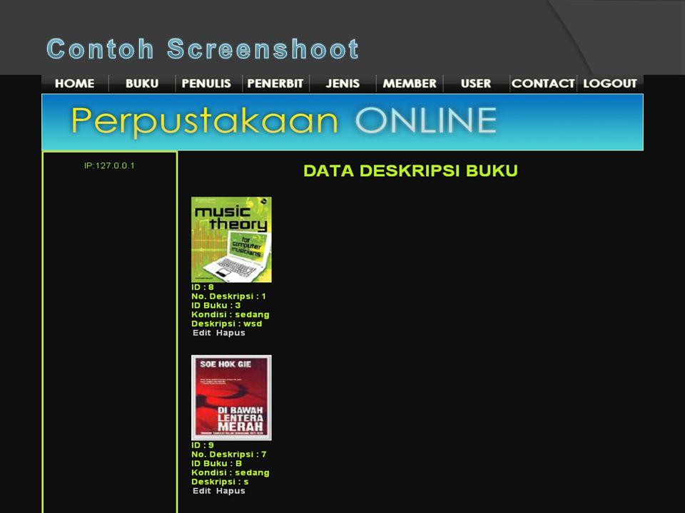 Contoh Screenshoot