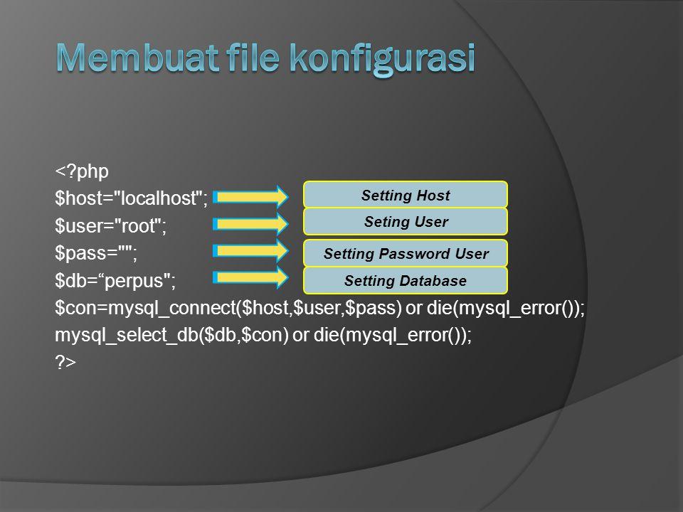 Membuat file konfigurasi