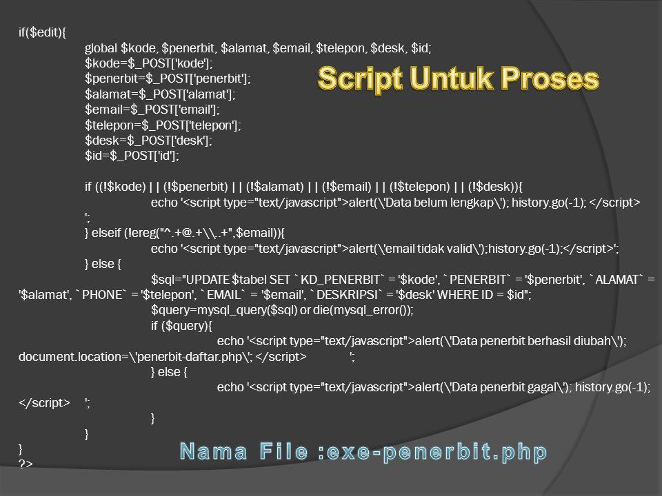 Nama File :exe-penerbit.php