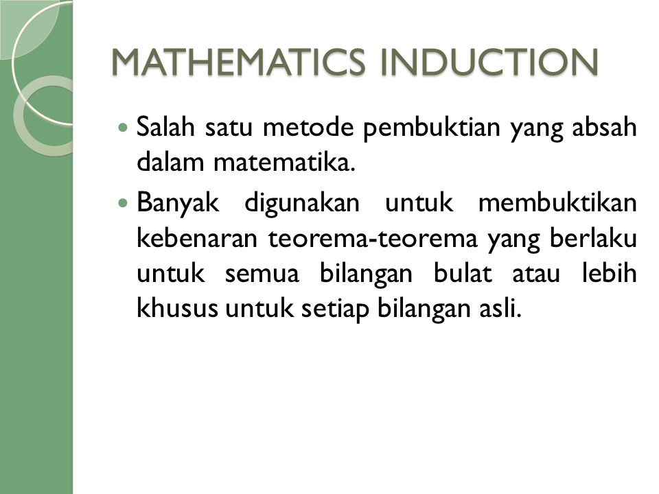 MATHEMATICS INDUCTION