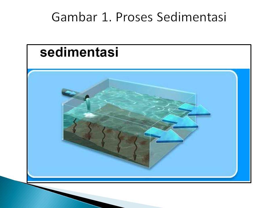 Gambar 1. Proses Sedimentasi