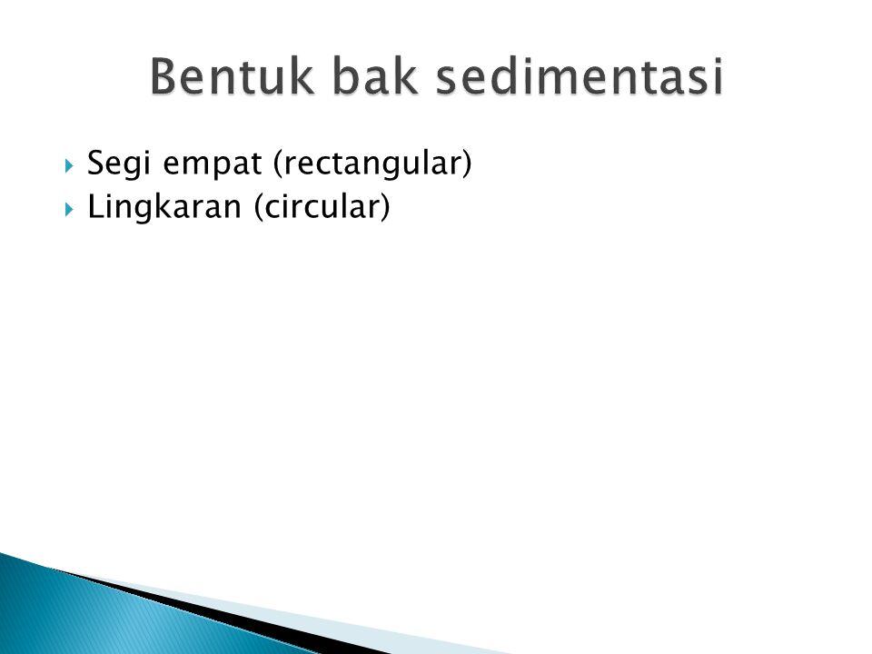 Bentuk bak sedimentasi