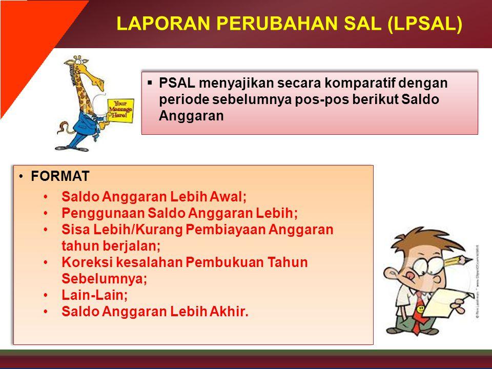 LAPORAN PERUBAHAN SAL (LPSAL)