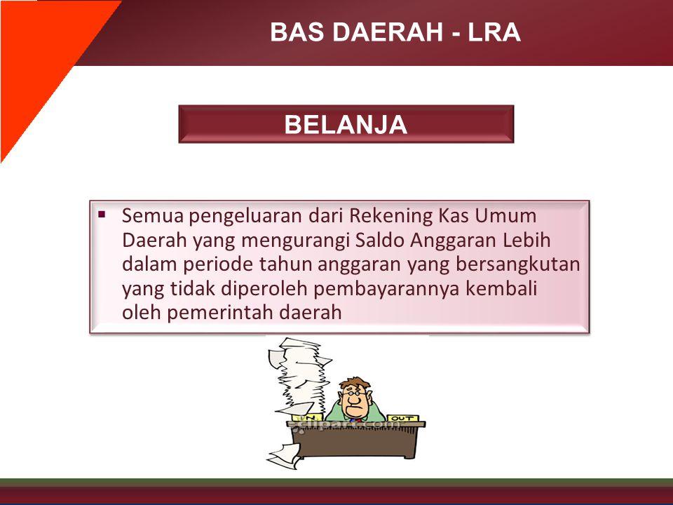 BAS DAERAH - LRA BELANJA