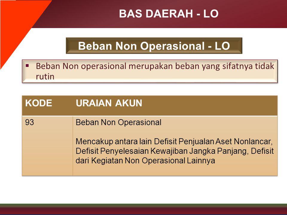 Beban Non Operasional - LO