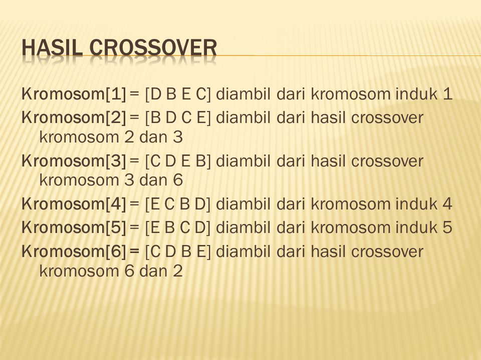 Hasil crossover