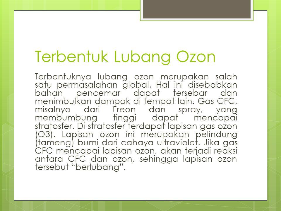 Terbentuk Lubang Ozon