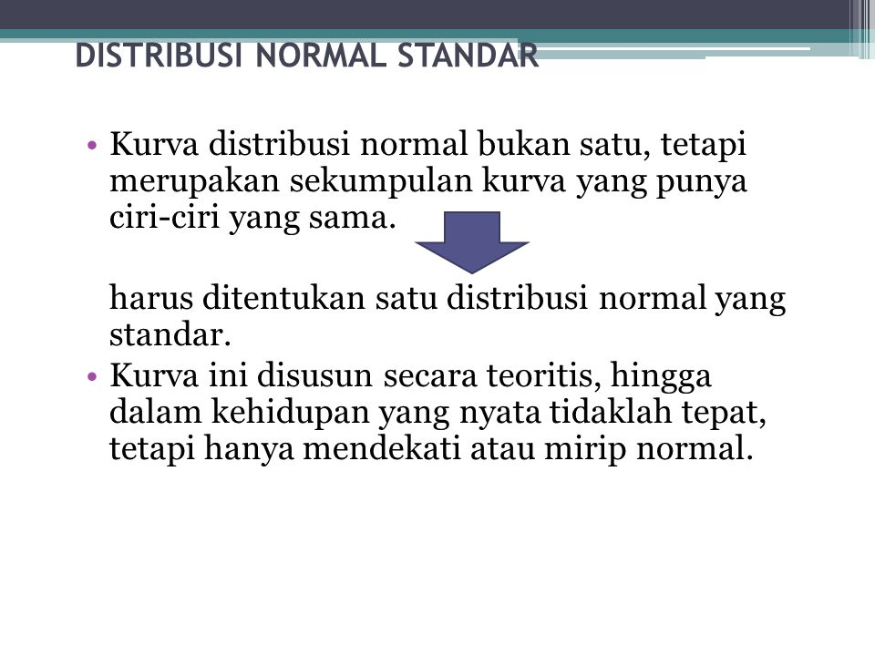 DISTRIBUSI NORMAL STANDAR