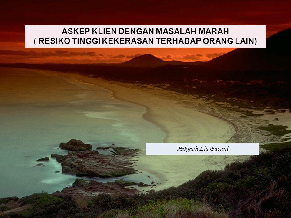 ASKEP KLIEN DENGAN MASALAH MARAH ( RESIKO TINGGI KEKERASAN TERHADAP ORANG LAIN)