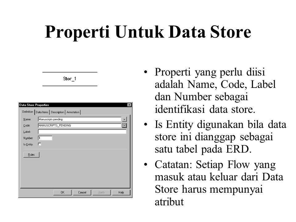Properti Untuk Data Store