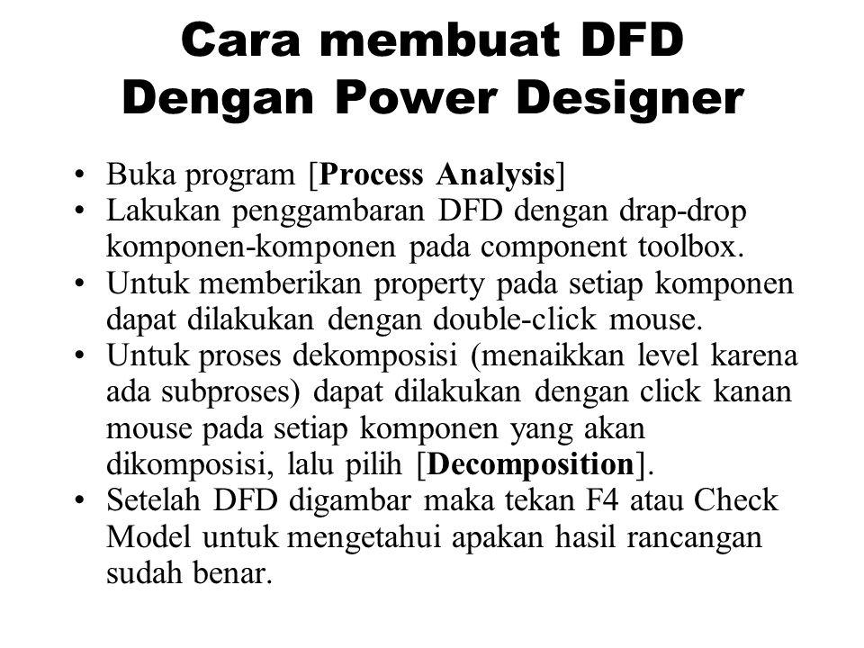 Cara membuat DFD Dengan Power Designer