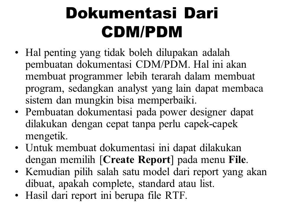 Dokumentasi Dari CDM/PDM