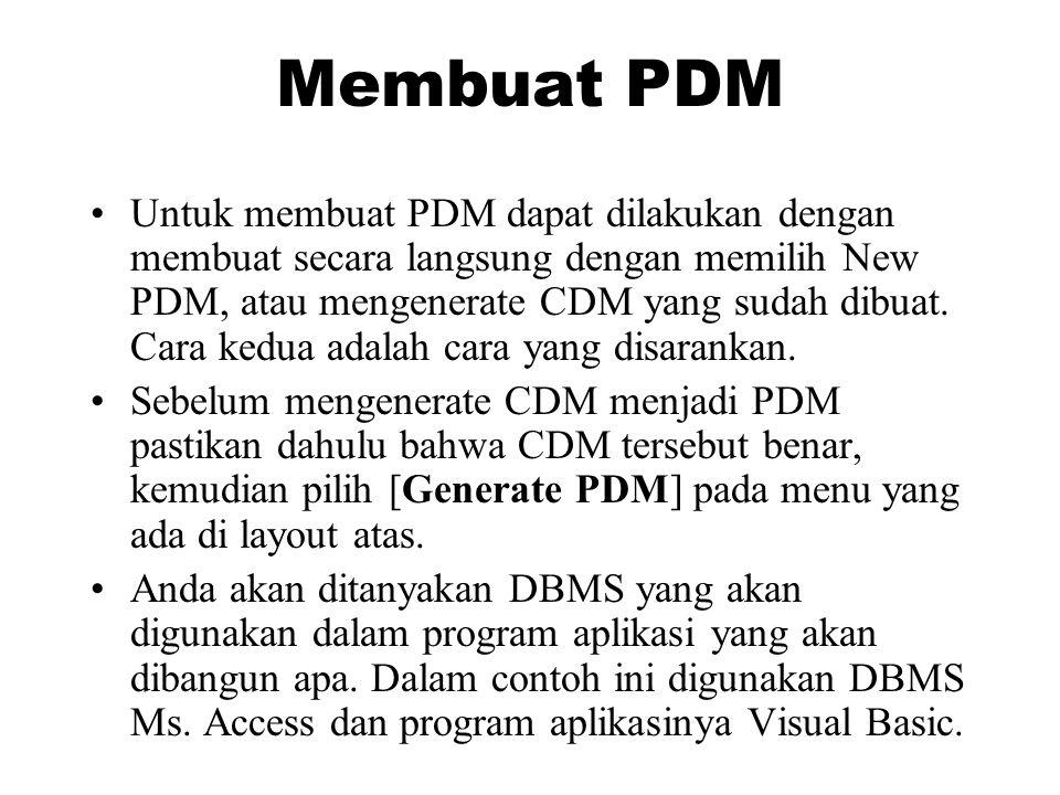 Membuat PDM