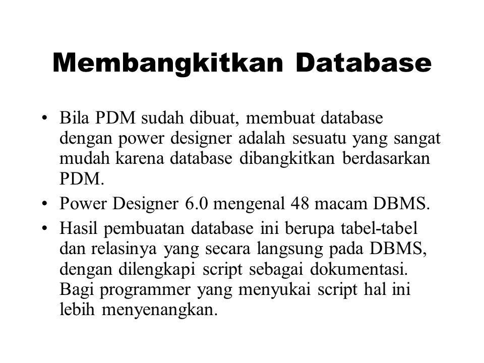 Membangkitkan Database