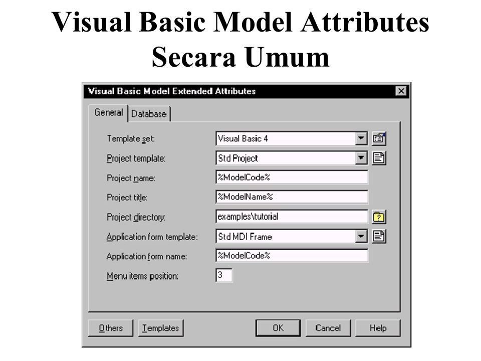 Visual Basic Model Attributes Secara Umum
