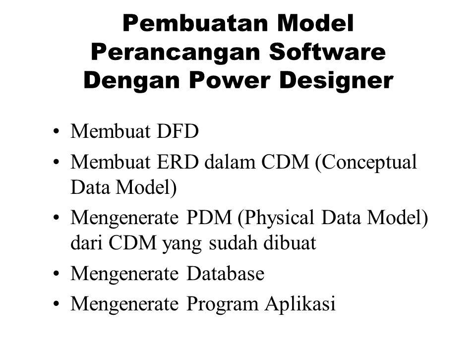 Pembuatan Model Perancangan Software Dengan Power Designer