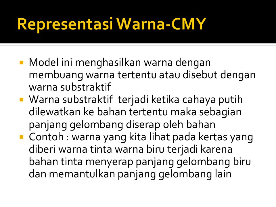 Representasi Warna-CMY
