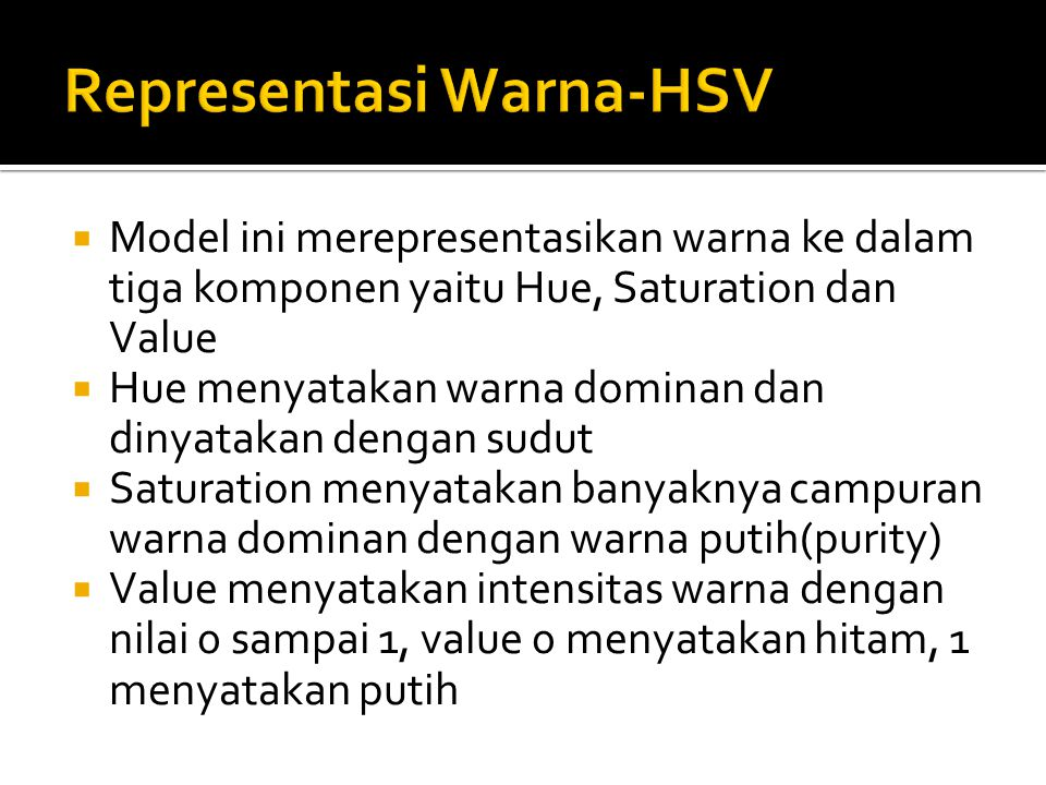 Representasi Warna-HSV