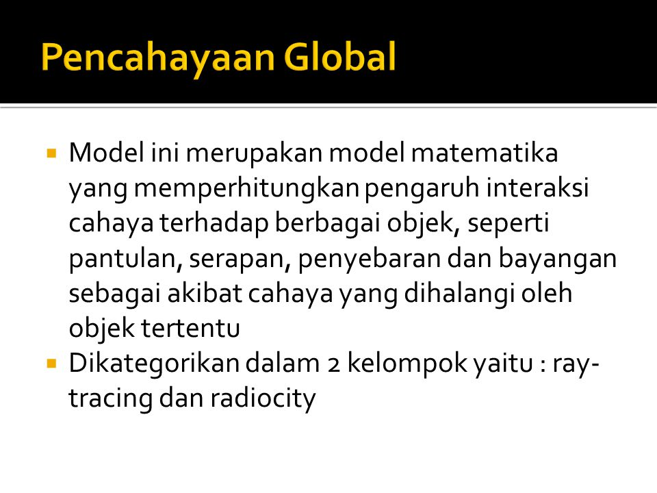Pencahayaan Global