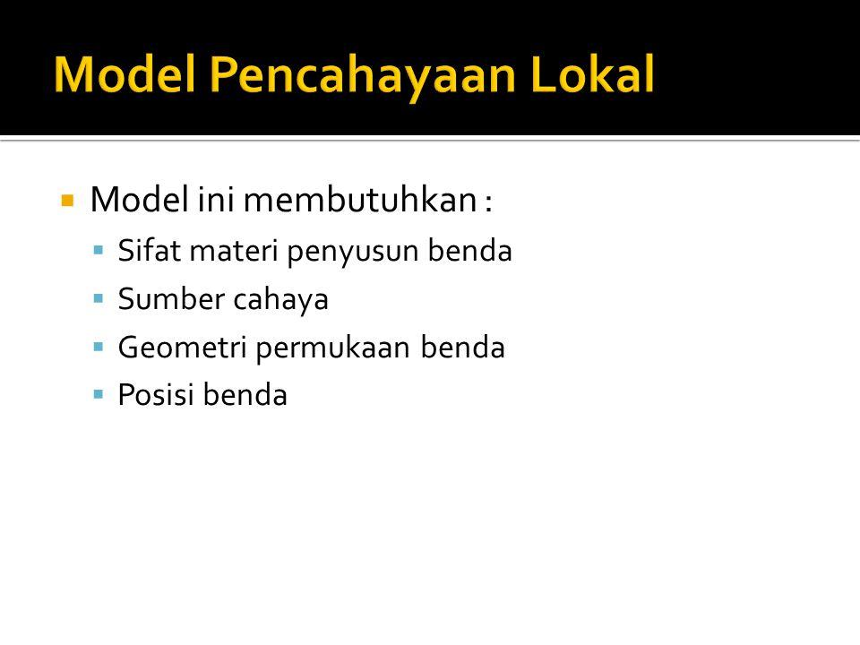 Model Pencahayaan Lokal