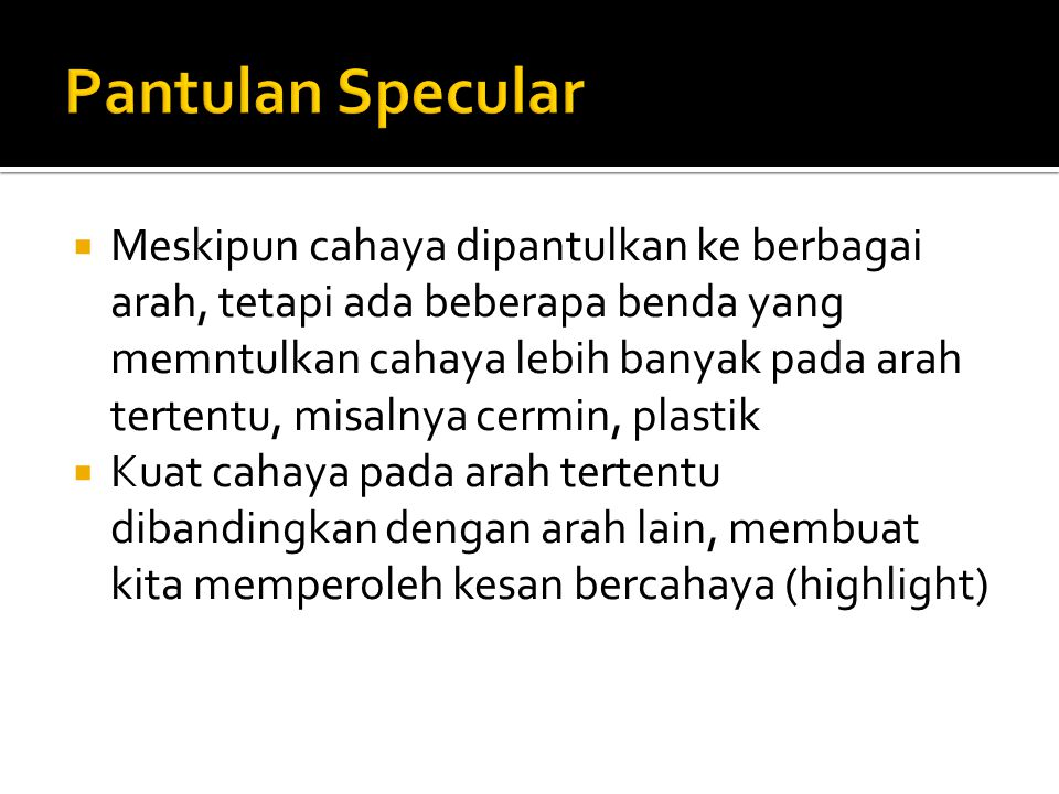 Pantulan Specular