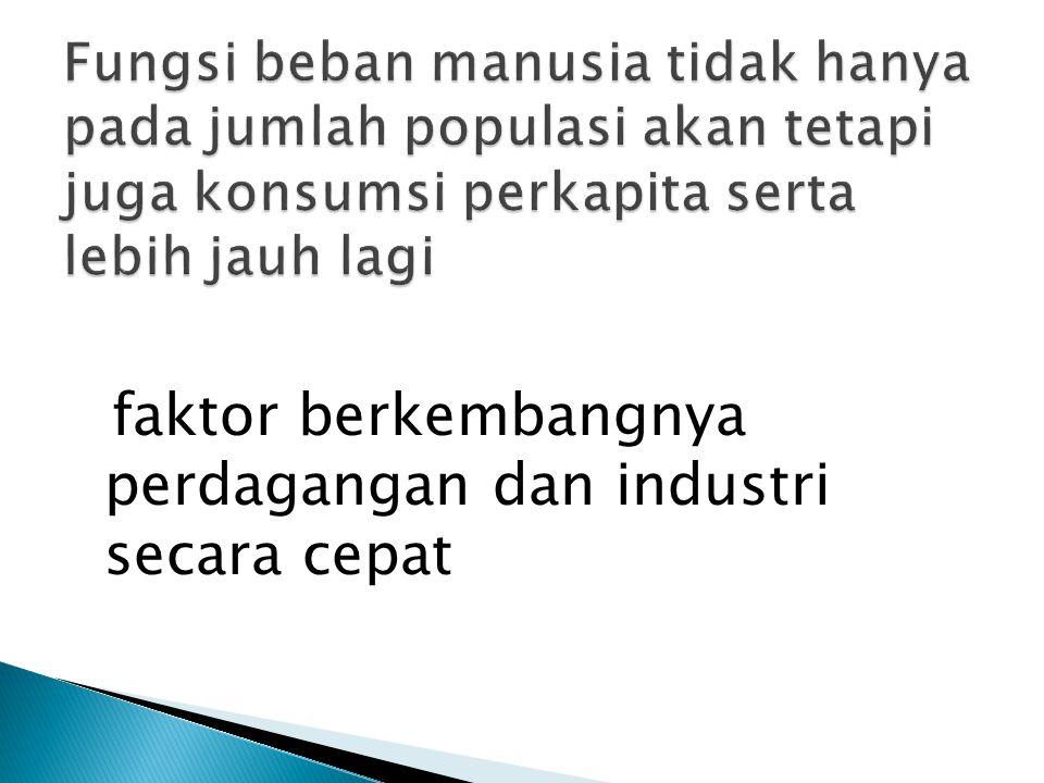 faktor berkembangnya perdagangan dan industri secara cepat