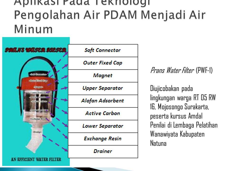 Aplikasi Pada Teknologi Pengolahan Air PDAM Menjadi Air Minum