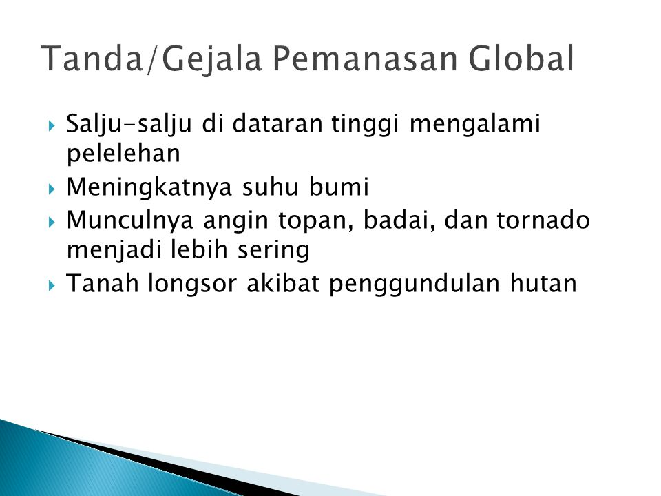 Tanda/Gejala Pemanasan Global