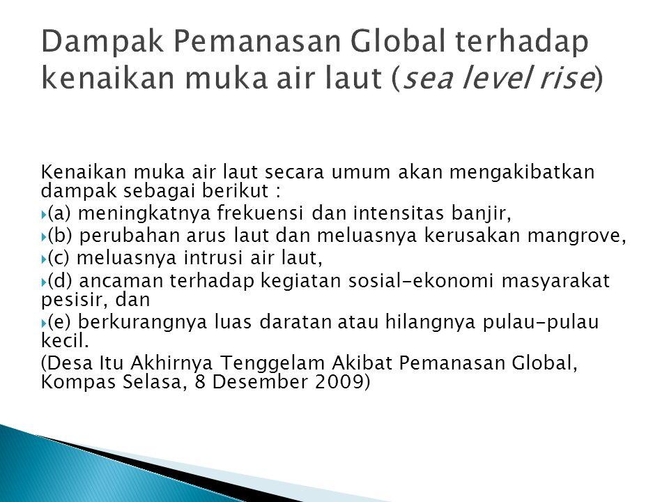 Dampak Pemanasan Global terhadap kenaikan muka air laut (sea level rise)