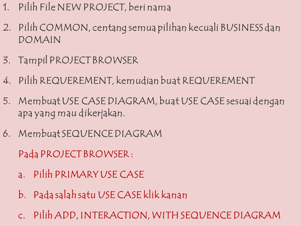 Pilih File NEW PROJECT, beri nama