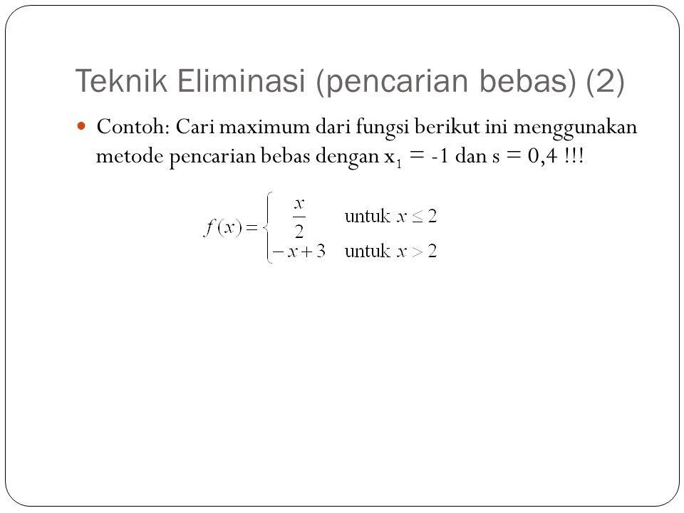 Teknik Eliminasi (pencarian bebas) (2)