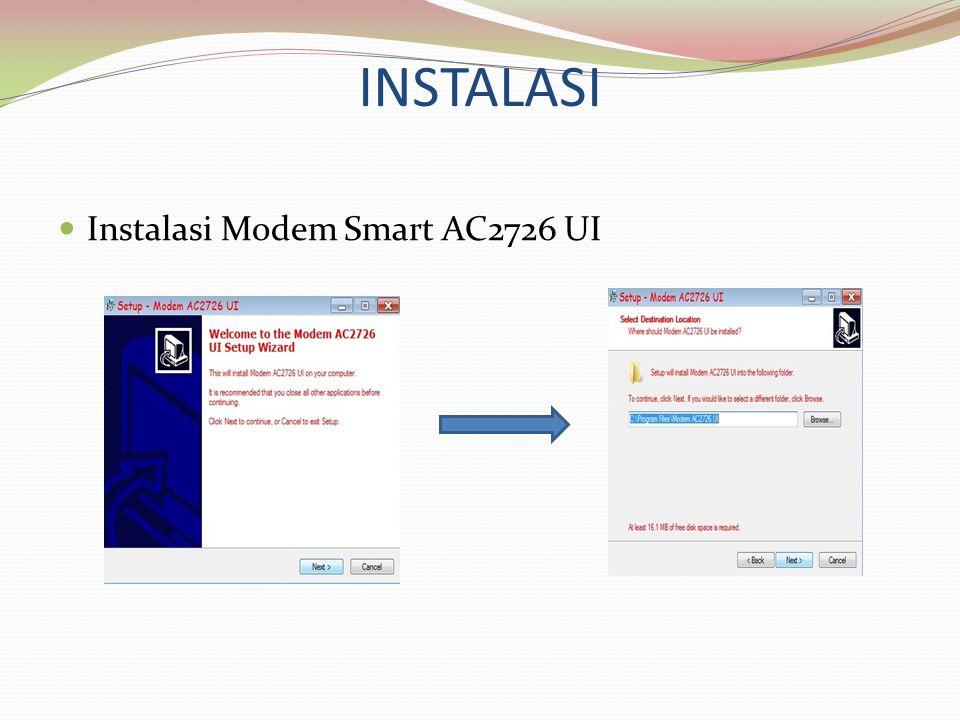 INSTALASI Instalasi Modem Smart AC2726 UI