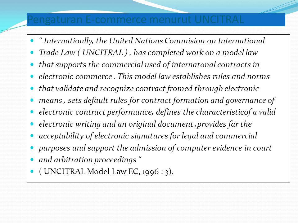 Pengaturan E-commerce menurut UNCITRAL