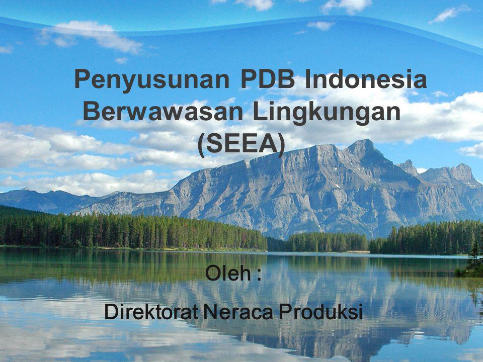 Penyusunan PDB Indonesia Berwawasan Lingkungan (SEEA)