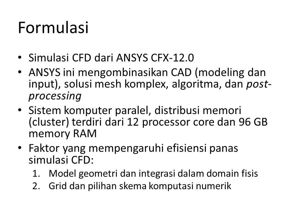 Formulasi Simulasi CFD dari ANSYS CFX-12.0