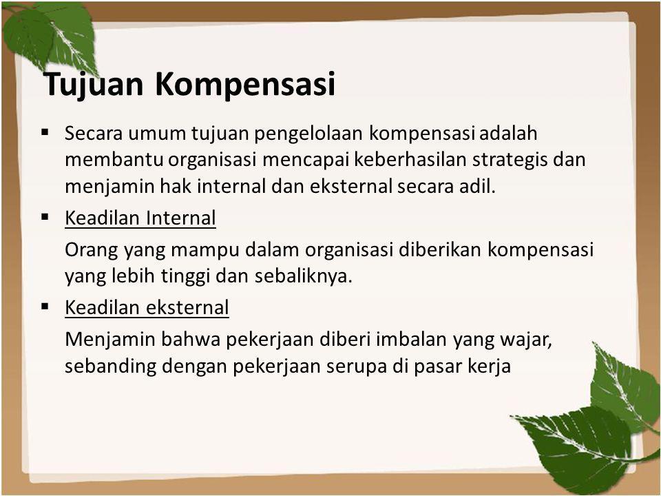 Tujuan Kompensasi