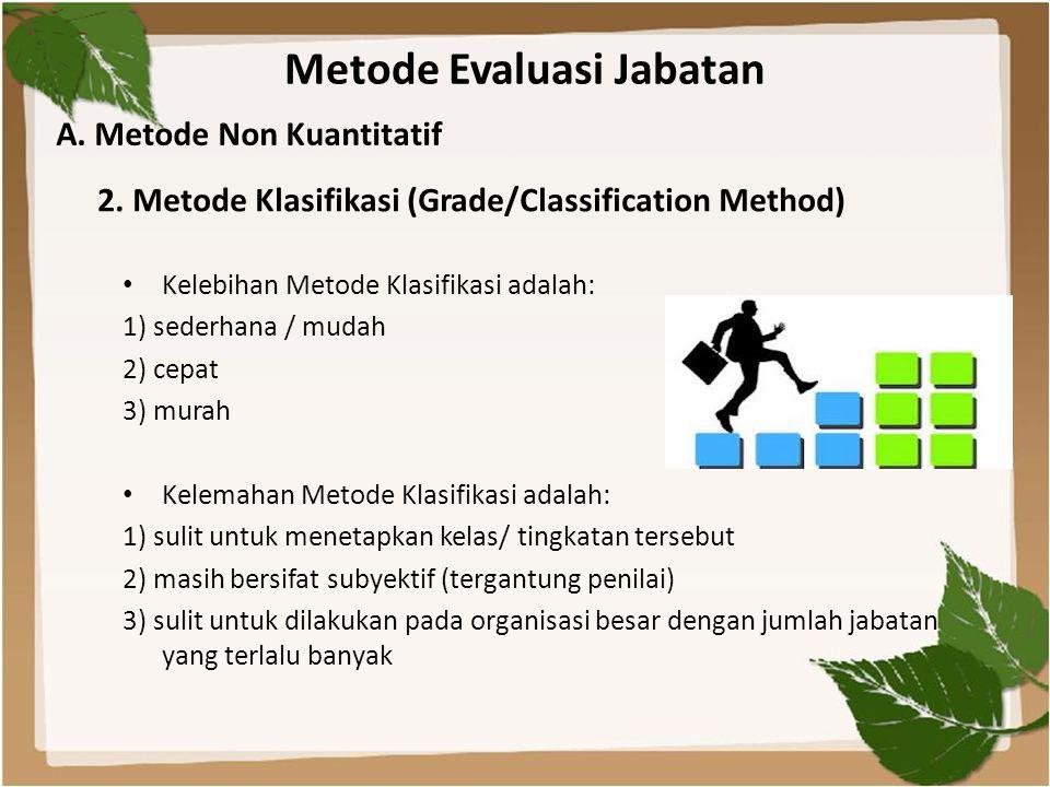Metode Evaluasi Jabatan