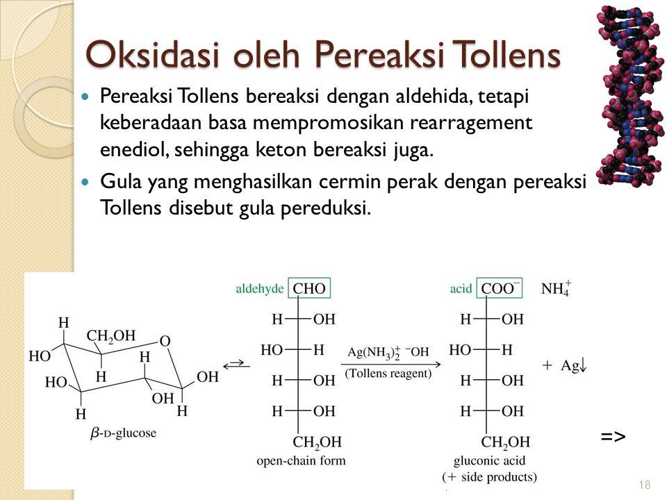 Oksidasi oleh Pereaksi Tollens