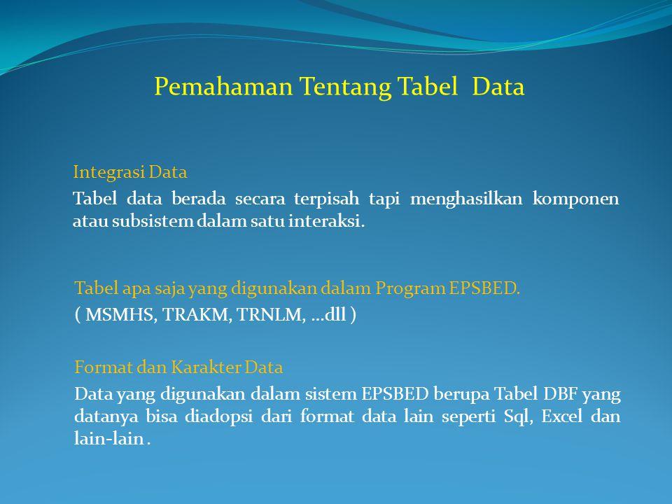 Pemahaman Tentang Tabel Data