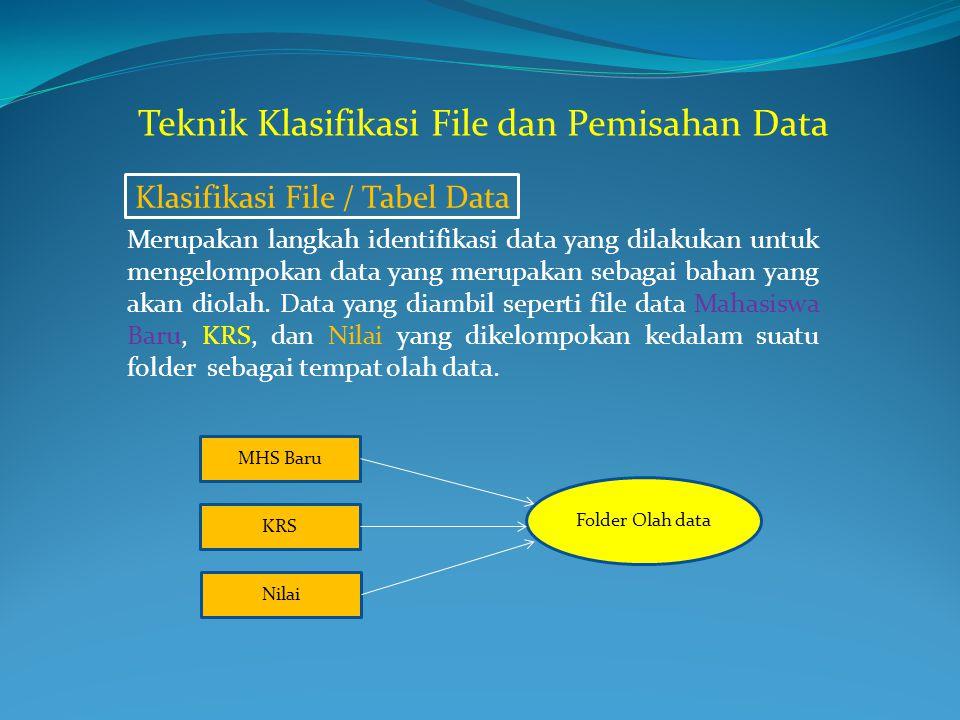 Teknik Klasifikasi File dan Pemisahan Data