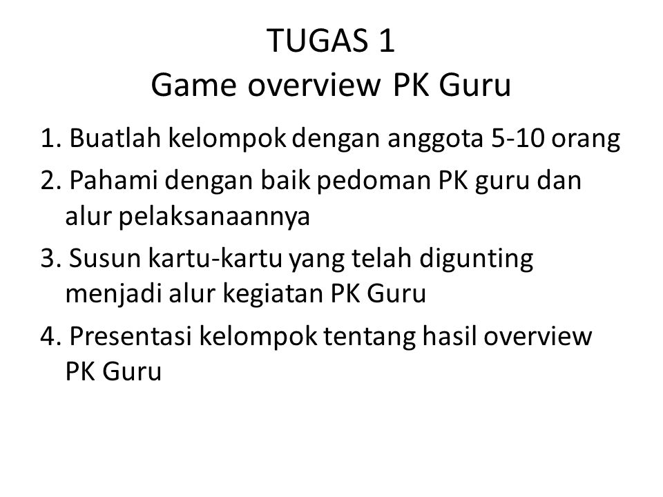TUGAS 1 Game overview PK Guru