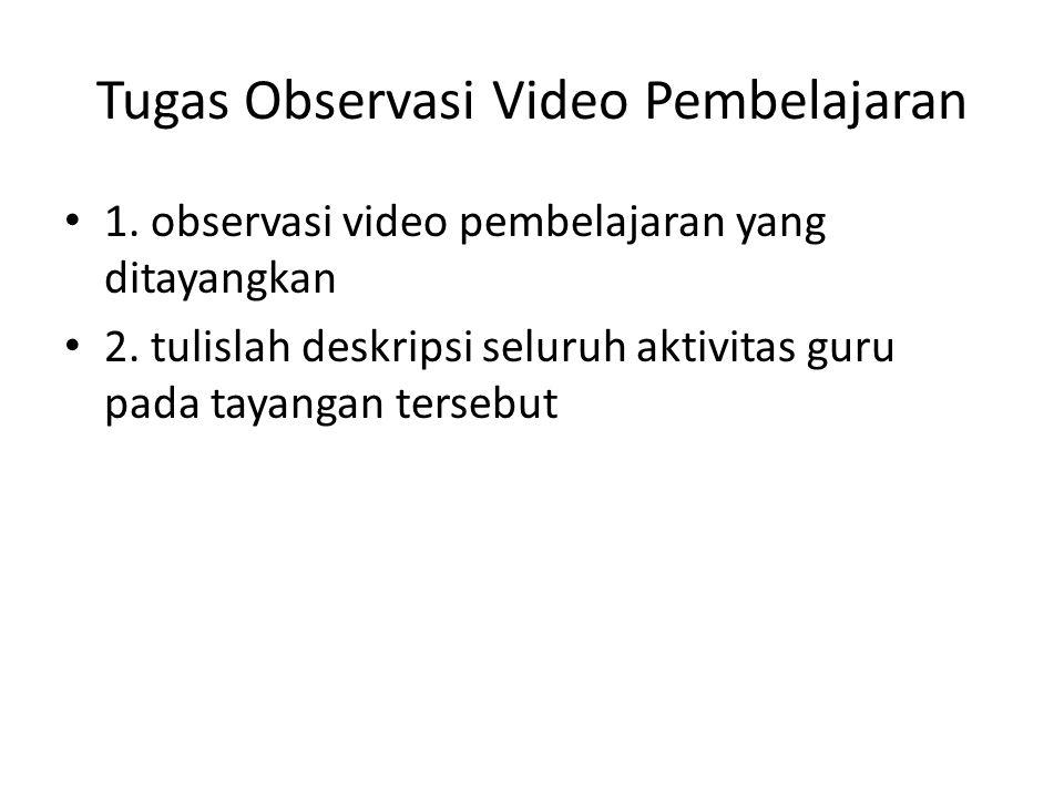 Tugas Observasi Video Pembelajaran
