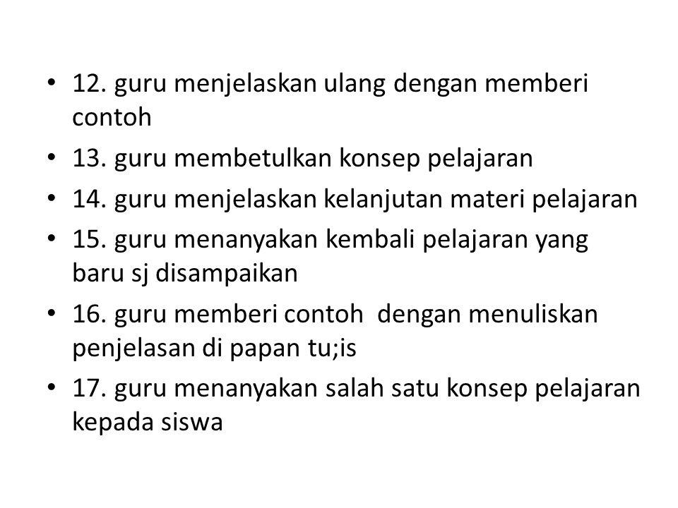 12. guru menjelaskan ulang dengan memberi contoh